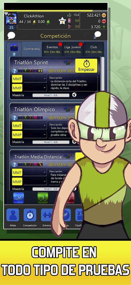 Juego de triatlón gratis – ClickAthlon Manager