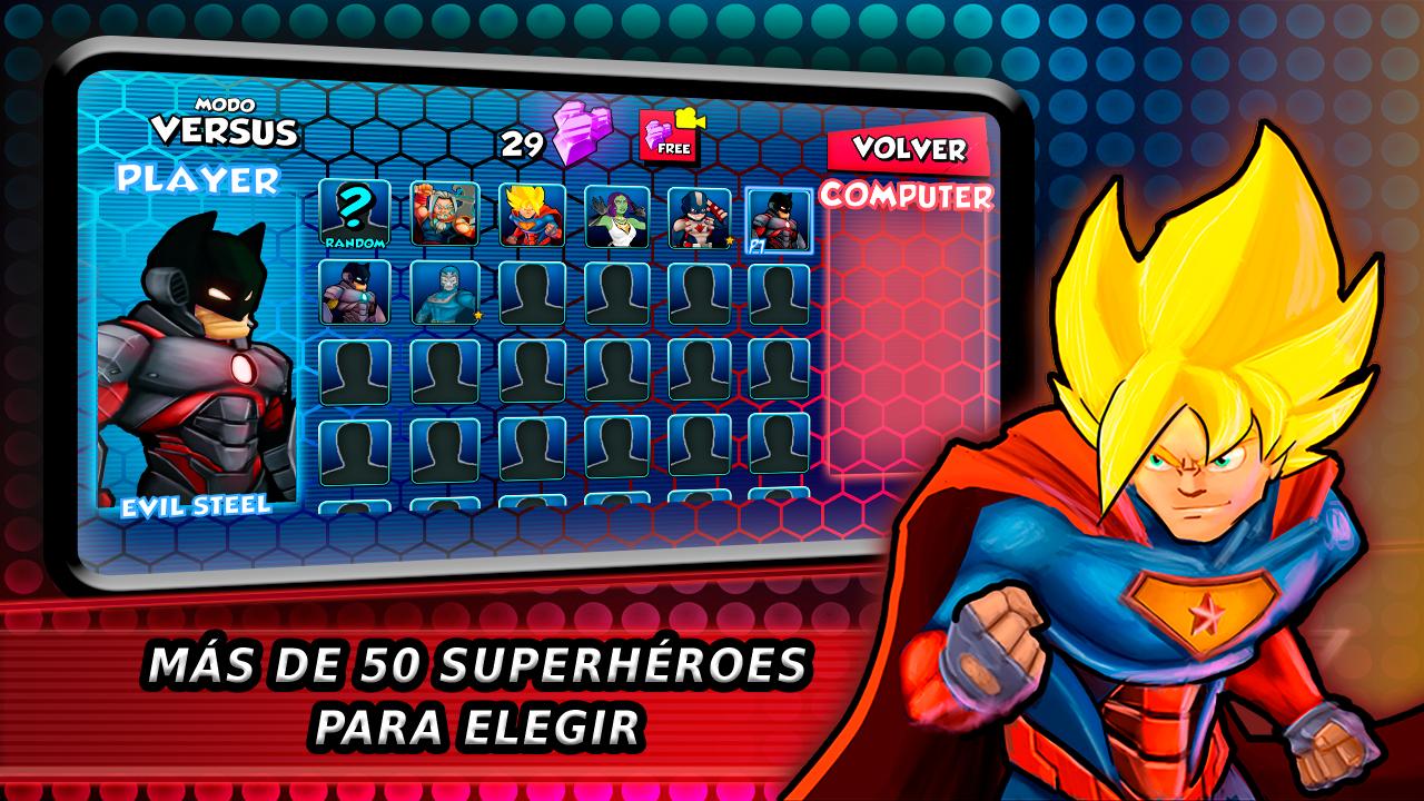 Juego de lucha Superhéroes Batalla de las sombras